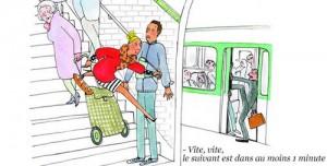 Parisienne pressée courant après son métro