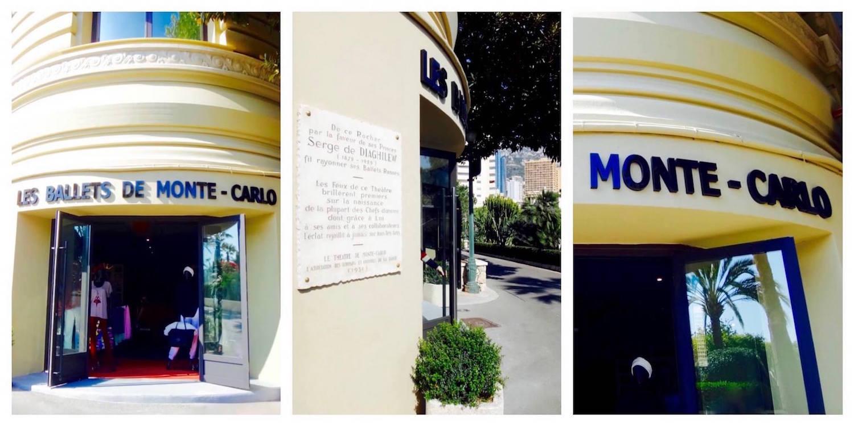 Devanture de la boutique des Ballets de Monte-Carlo