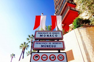 Panneau entrée Principauté de Monaco