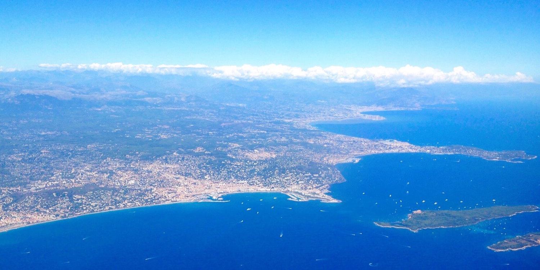 Vue aérienne Cannes Nice