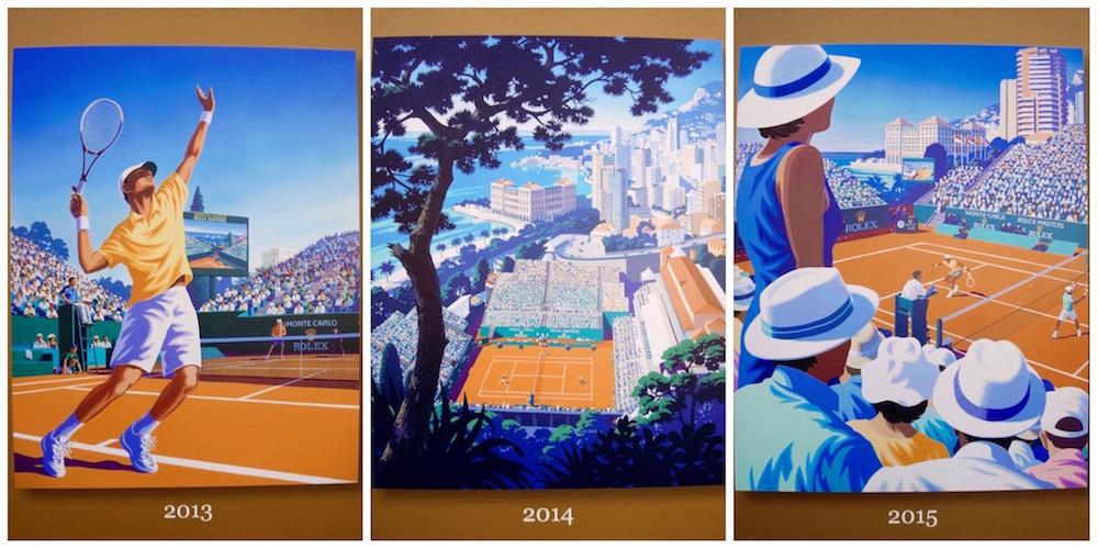 Affiches officielles des précédents tournois - Illustrations By Andrew Davidson.