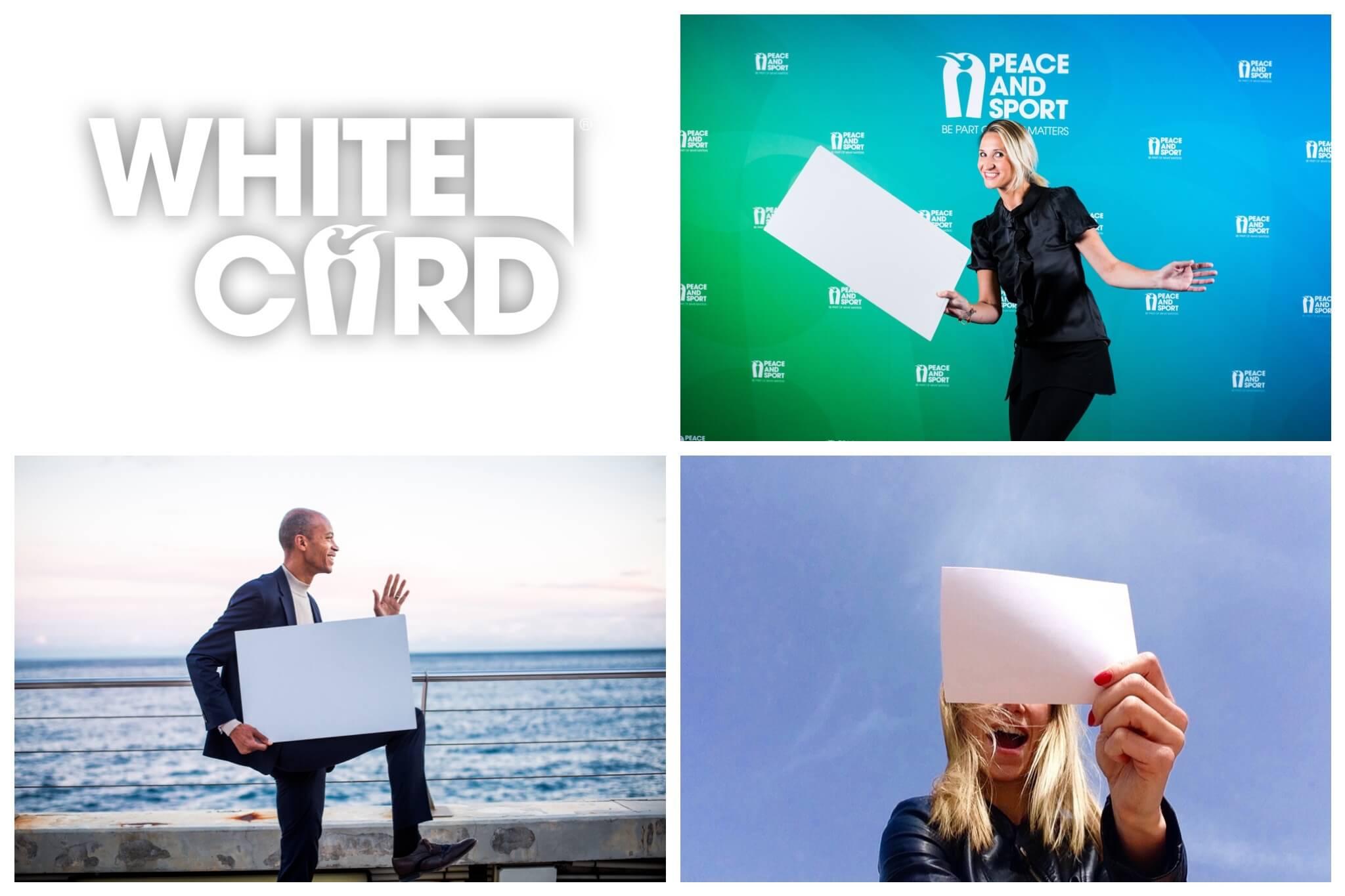 Tatiana Golovin et Stéphane Diagana pour l'opération #WhiteCard