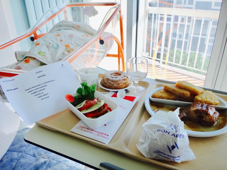 Repas à la maternité du CHPG de Monaco