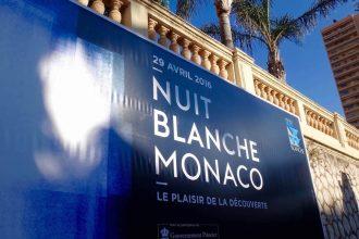 Affiche pour la Nuit Blanche de Monaco - 29 avril 2016